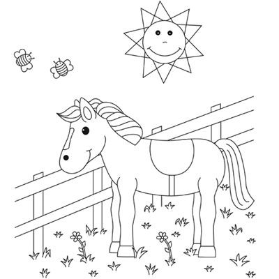 malvorlage pferd totilas | coloring and malvorlagan